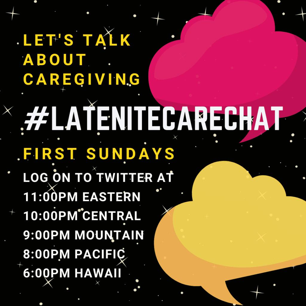 #latenitecarechat