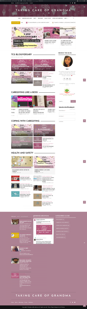 Screenshot: TakingCareofGrandma.com redesign