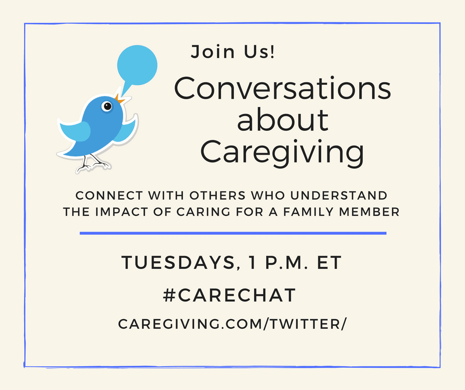 Join us! Conversations about Caregiving #Carechat Tuesdays at 1pm ET