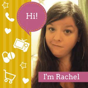 """Graphic: Talk bubble says """"Hi!"""", with a photo of Rachel, the author, and text at the bottom of the photo that says, """"I'm Rachel"""""""