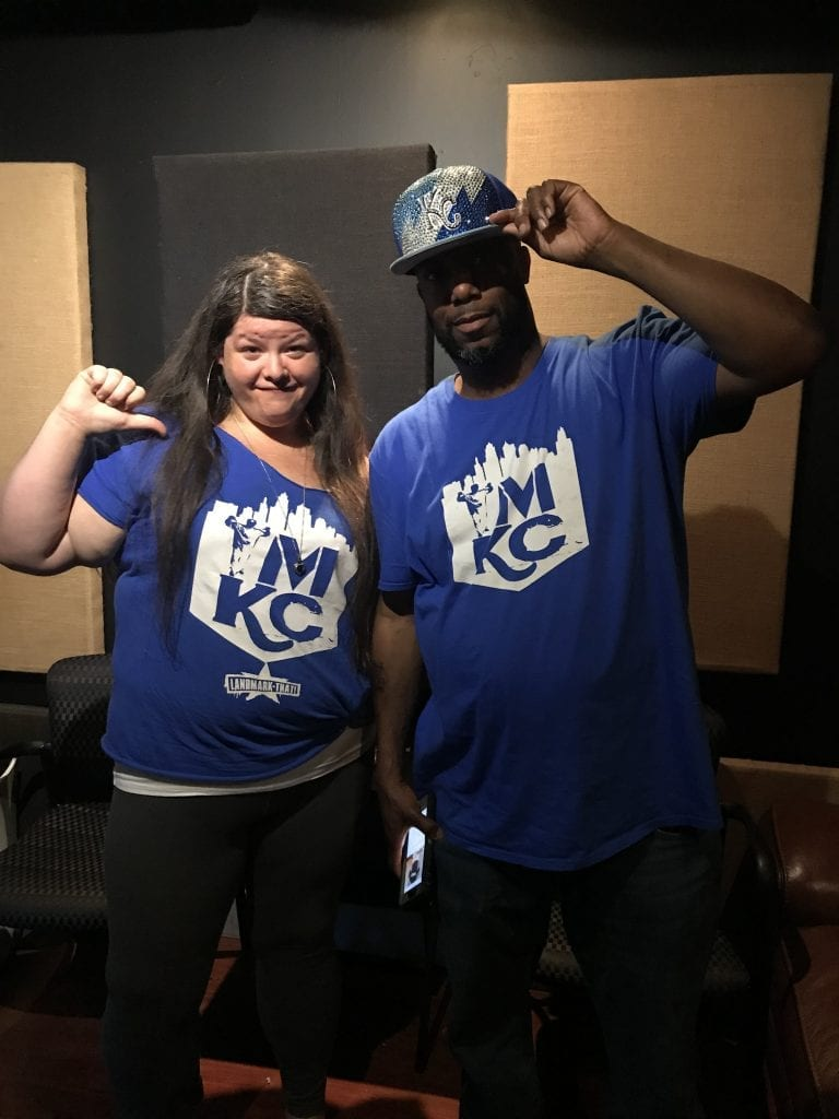 Photo: Rachel (left) with The Popper, KC area rapper