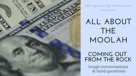 Graphic: A pile of money COMING OUT FROM THE ROCK - ALL ABOUT THE MOOLAH